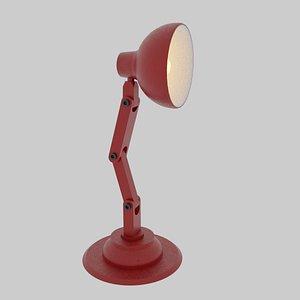 3D model lamp rigged
