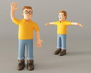 Cartoon Man 2 3D