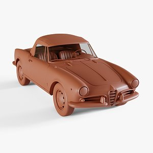 3D alfa-romeo giulietta model