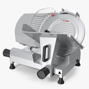 3D Electric Commercial Meat Slicer Stainless Steel model