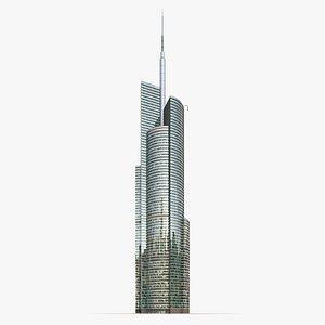 3D skyscraper office building model