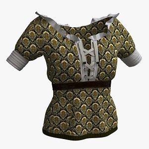 3D Woman  cloth 10 - Blouse Medieval