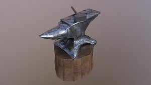 3D Low Poly Anvil
