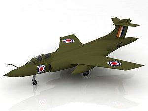 3D Blackburn Buccaneer 52B Aircraft model