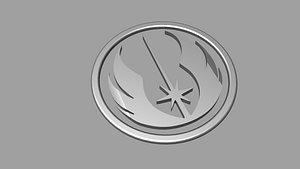 3D Jedi Logo