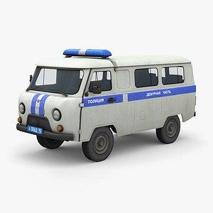 3D UAZ 2206 Police