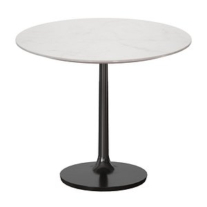 3D model dining table nero white marble