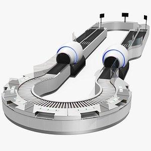 3D model security airport scanner scanning