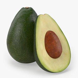 3D avocado realistic