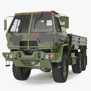 Oshkosh FMTV Camouflage Cargo Truck 6x6 3D model
