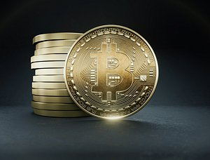 3D coin money currency model