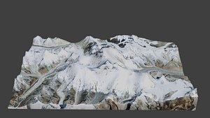 Lhotse Mountain 3D model