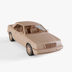 3D 1993 Mercedes-Benz E-class convertible model