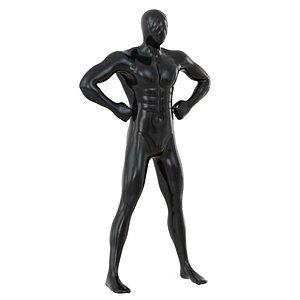 3D man mannequin pose