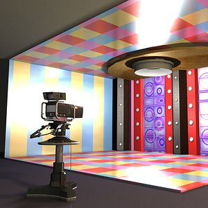 3D model tv studio fancy