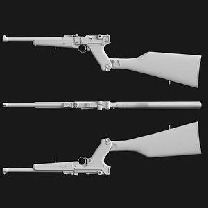 Luger P08 Carbine 3D model