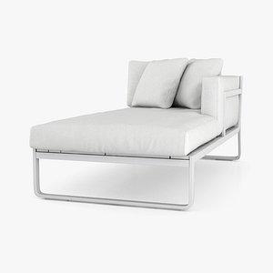 3D model Gandia Blasco Flat Sofa Modular 2