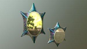 3D litmus wall mirror model