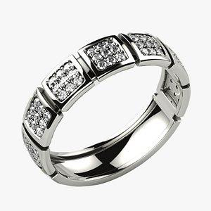 3D model Fashion Gold Ring