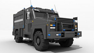 swat bank transport truck 3D