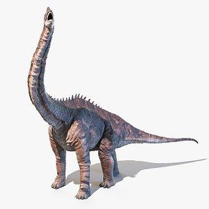 3D Europasaurus Animated