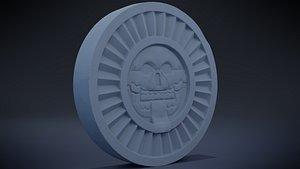 Disk of Mictlantecuhtli 3D model