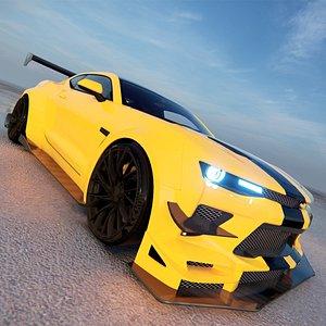 Chevrolet Camaro ZL1 1LE 2018 3D model 3D model