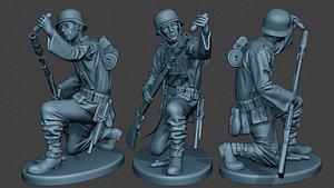 german soldier ww2 schiessbecher2 3D model
