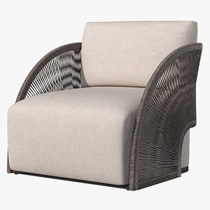 3D OUTDOOR PAVONA LOUNGE CHAIR 2021 by RESTORATION HARDWARE model