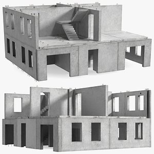 3D model Precast Concrete Panel House