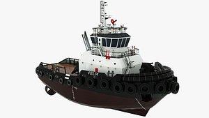 Tugboat Felix 3D model
