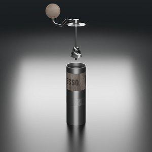 3D model coffee grinder 1zpresso