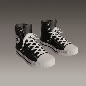 Converse sneakers All Star - Low poly - 02 3D model
