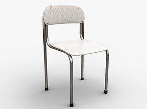 3D Single School Chair model
