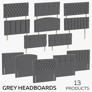 3D Grey Headboards model