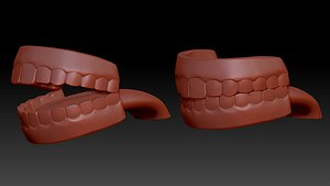 3D mouth teeth ready printing