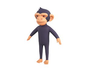 Character109 Chimpanzee 3D model