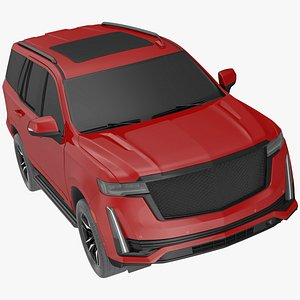 3D Luxury Large SUV Exterior Only