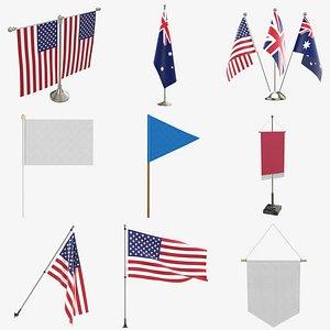 3D Flags PBR model
