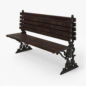 city bench pbr - 3D model