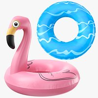 Two Pool Toys Inflatable Rafts