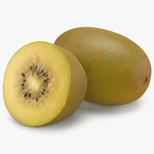 3D Golden Kiwi Fruit