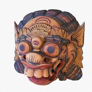 African Mask 04 hypoly 3D model model