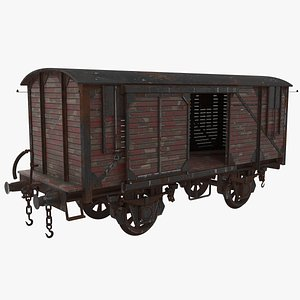 3D Wooden Train Carriage
