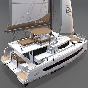 3D 3D Catamaran BALI 4 6 model