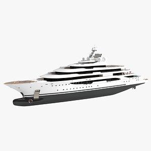 Willie Spirit Luxury Yacht Dynamic Simulation 3D model