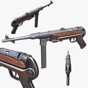 MP40 Submachine Gun Germany World War 2 3D model
