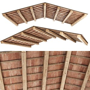 3D ceiling wooden wood