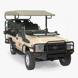 Toyota Land Cruiser Safari Open Sided Beige Clean 3D model