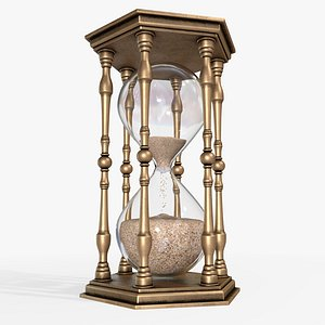 hourglass vintage glass 3D model